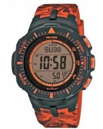 CASIO PRO TREK TOUGH SOLAR  Led Light Compass Barometer Thermometer 29 Time Zones 5 Alarms Snooze Chrono Full Calendar