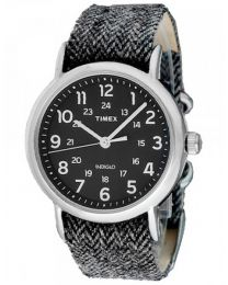 TIMEX WATCHES Mod. WEEKENDER TW2P72000 - STAINLESS STEEL - TEXTIL - MINERAL GLASS - INDIGLO - 38mm - 30 METERS